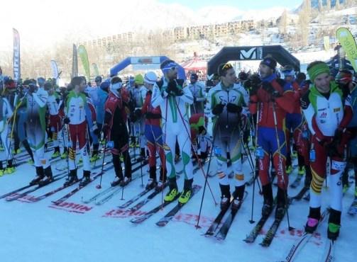 Esqui de Montaña FEDME Campeonato España Cronoescalada. Podio femenino absoluto. Foto. FEDME