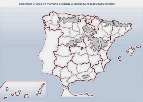 Montañas de españa. Mapa previsión meteo de montaña por AEMET