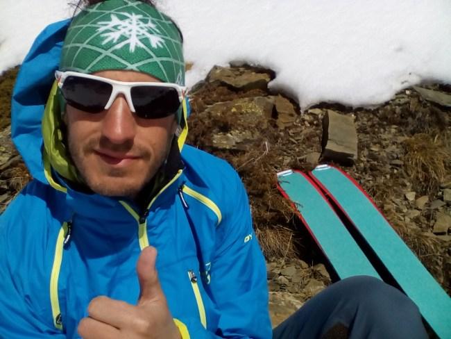 Pomoca Pro-Glide skins: Borja en plena prueba en Pirineos.