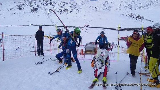 esqui montaña fedme val daran fotos cadete final sprint