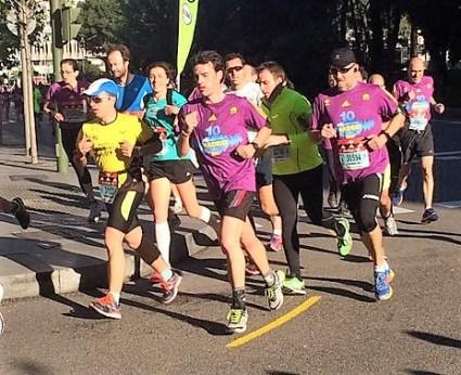 Corredores del 10k Maraton Madrid 2016