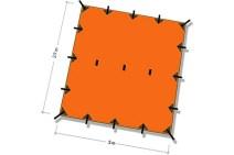 Tarp SuperLight 3 x 2,9 m Naranja DD Hammocks 1