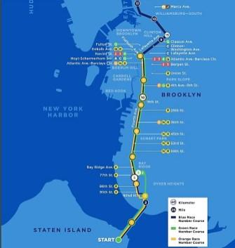 Maraton Nueva York 2018 mapa carrera