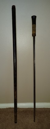 late 19th century walking stick with hidden blade