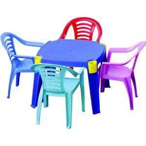 Купить Детский стол с карманами bk