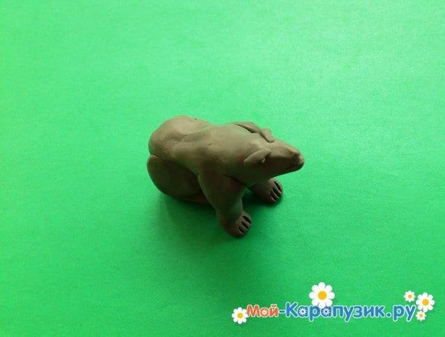 Пластилиннен қасқыр модельдеу - 10 сурет