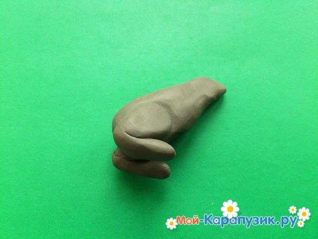 Пластилиннен қасқыр модельдеу - 7-сурет