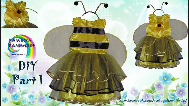 Setelan Tahun Baru lebah untuk seorang gadis