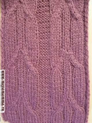 Pattern Trecce allungate per sciarpa a maglia