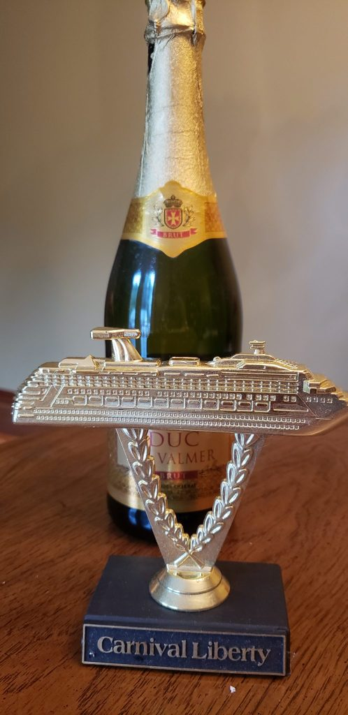 Carnival Cruise line trophy