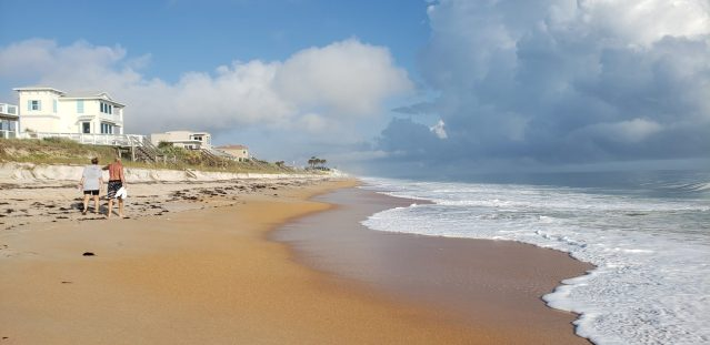walk along the quiet shores at Flagler Beach Florida