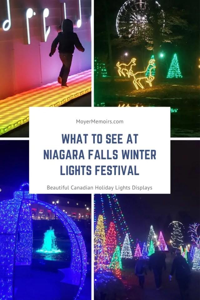 Winter Festival Of Lights At Niagara Falls Canada Moyer