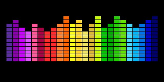 sound displayed in lights