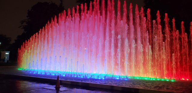 Magic Water Circuit Fountain in Lima Peru