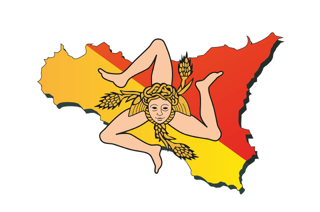 Sicily logo map