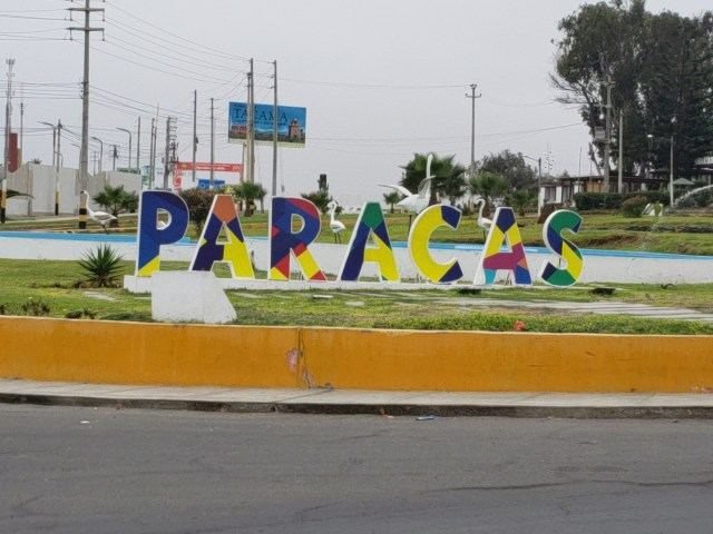 Paracas Welcome Sign