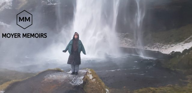 Dressed in many layers for water protection from Seljalandsfoss in Iceland
