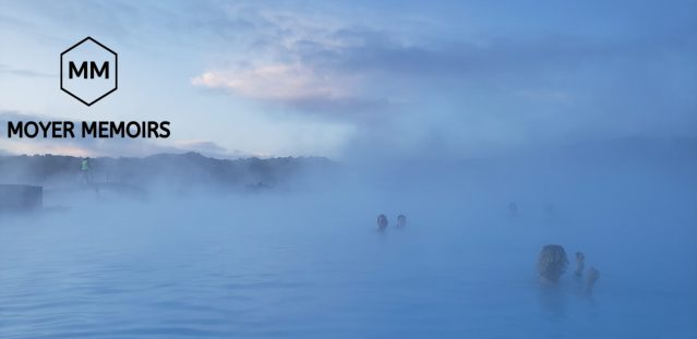 bathing in the warm waters of the Blue Lagoon
