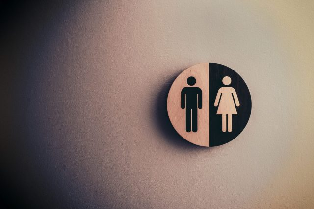 Restroom male / female sign