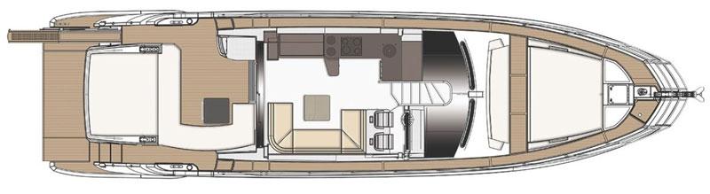 Аренда яхты в Лимассоле azimut 6 план палубы судна
