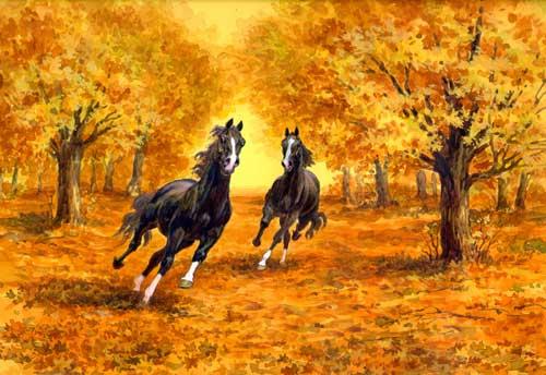 Free Fall Screensavers And Wallpaper Рисунки лошадей Мой Конь