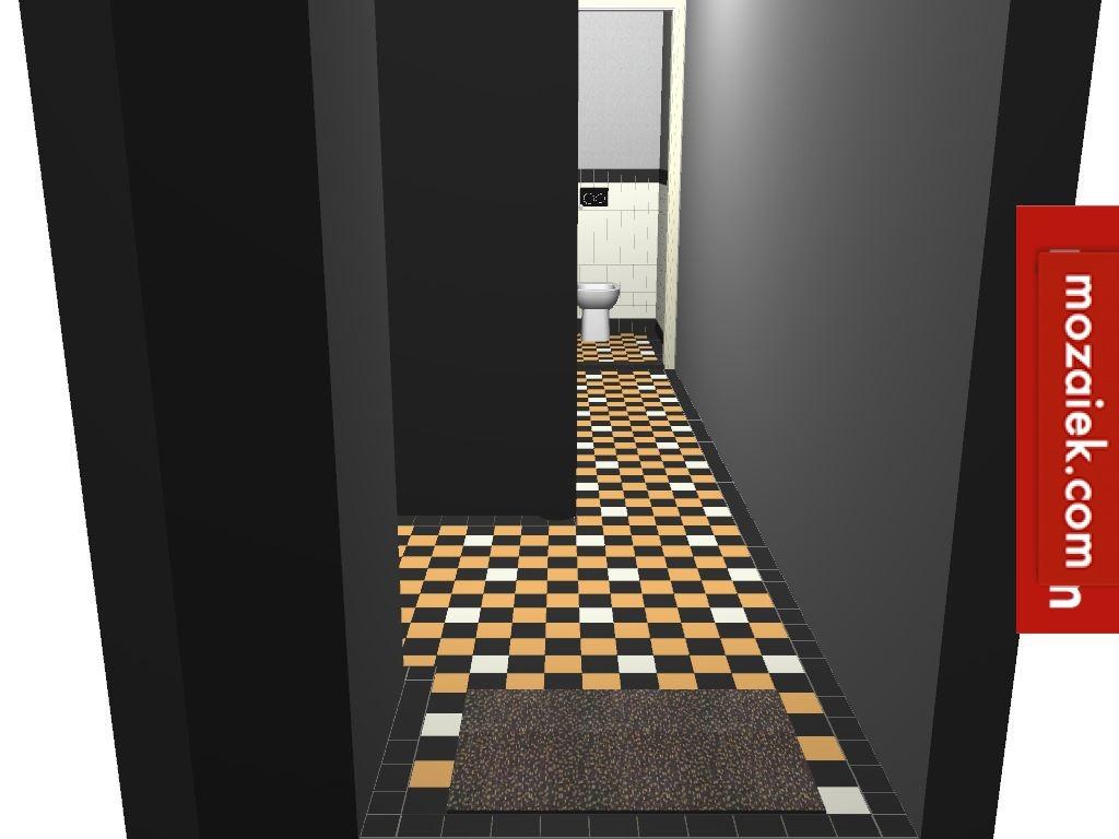 ontwerp tegelvloer gang toilet 1930 amersfoort  tegels