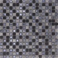 Mozaiek Blauw Zwart Ocean
