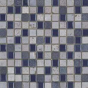 Mozaiek Blauw Grijs Antiek