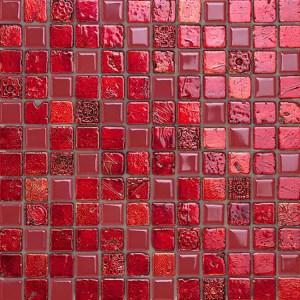 Mozaiek Rood Glas