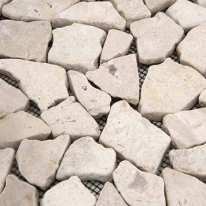 Mozaiek Gebroken Steen Creme