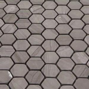 Mozaiek Zeshoek Donkerbruin