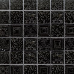 Mozaiek Kader Design Zwart
