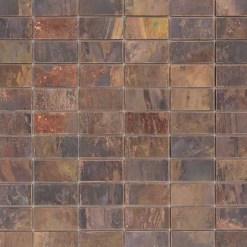 Mozaiek Koperen Rechthoek