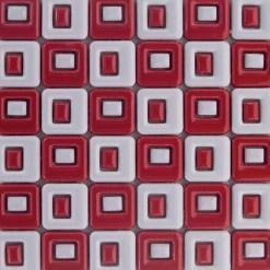 Mozaiek Quadro Rood Wit
