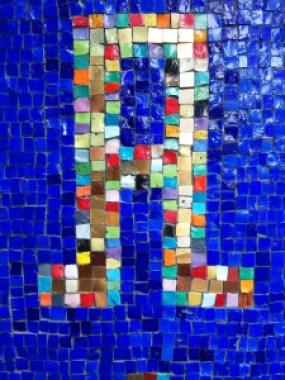 Luciana Notturni studio, szyld na Via Negri 14, detal