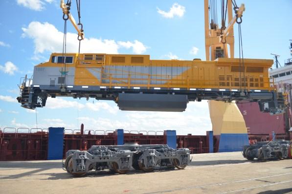 First 10 locomotives of CLN - Integrated Logistics Corridor of Nacala S.A