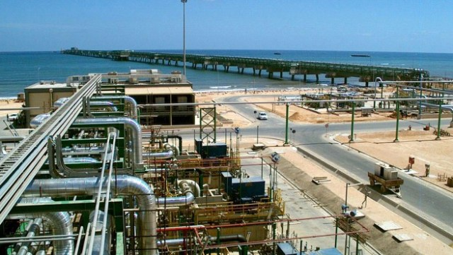 Greenstream natural gas pipeline connecting Libya and Italy