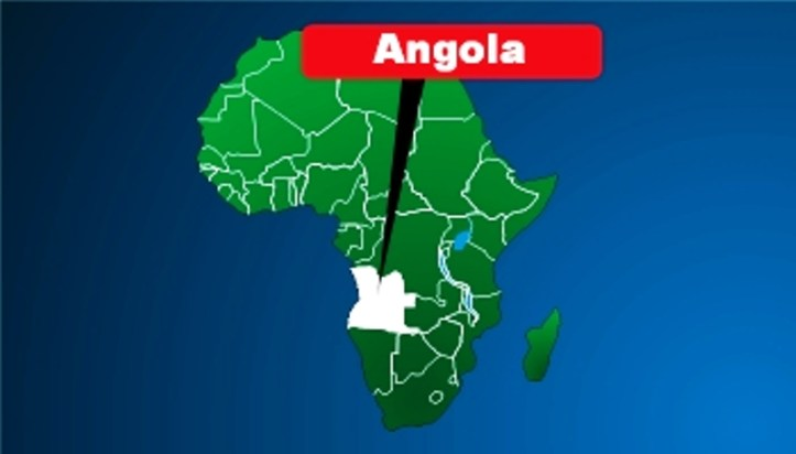Angola in the map of Africa