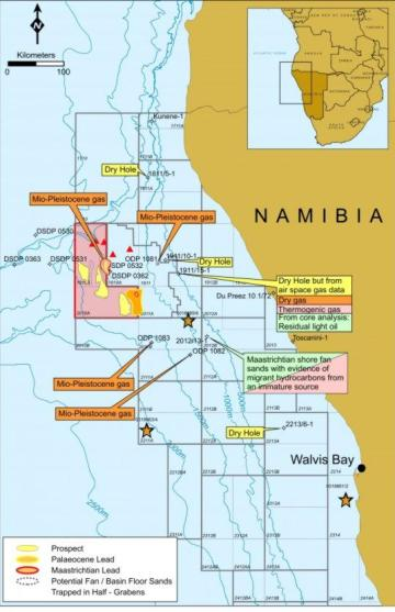 Global's offshore Namibia licence (in pink)