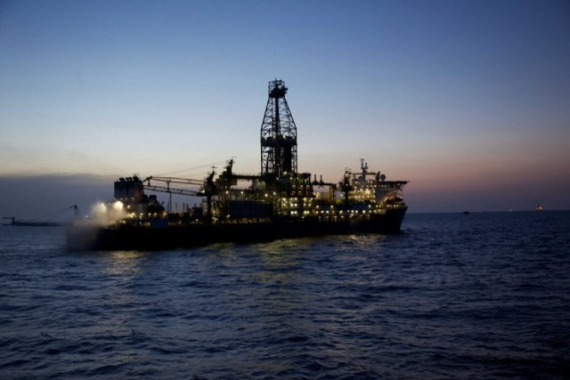 The Deepwater Millennium drillship  works on an Anadarko Petroleum Corp. project in the Rovuma Basin off the coast of Mozambique.
