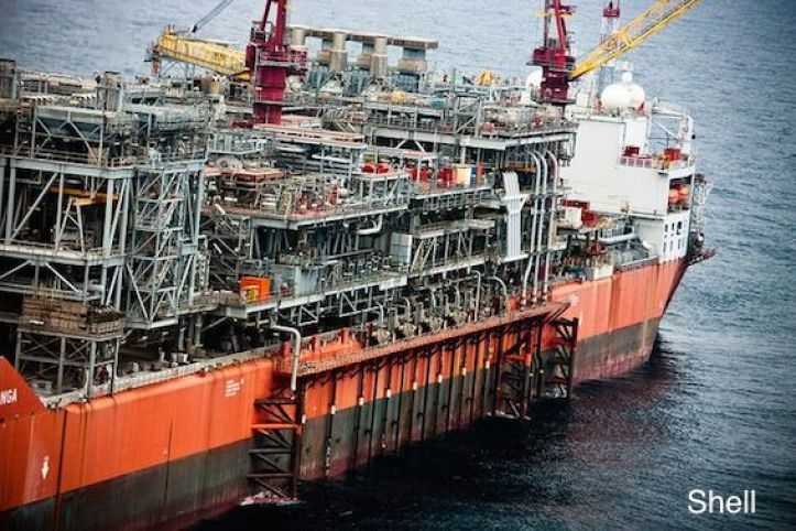 Shell FPSO, the Bonga-offshore Nigeria