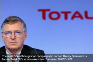 The world's fourth largest oil company also named Thierry Desmarest, a former Total CEO, as non-executive chairman - PHOTO - AFP