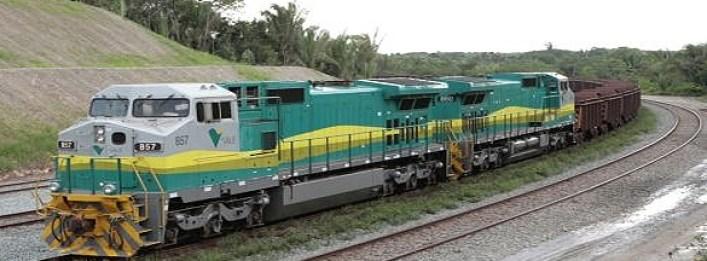 Vale coal train in the Sena railway line