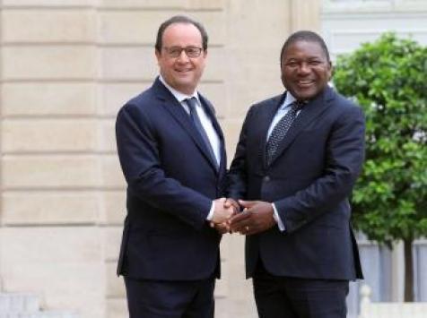 President Nyusi and François Holland