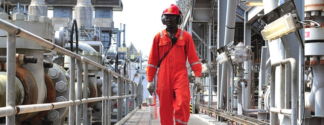 Nigeria Engineer working on shell plant