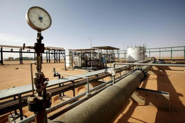 A general view of the El Sharara oilfield, Libya