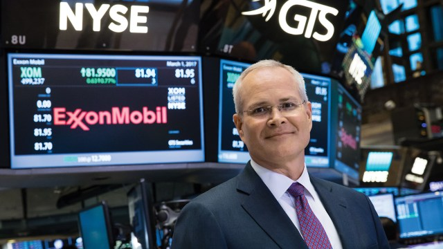 ExxonMobil - Darren woods at stock exchange_article