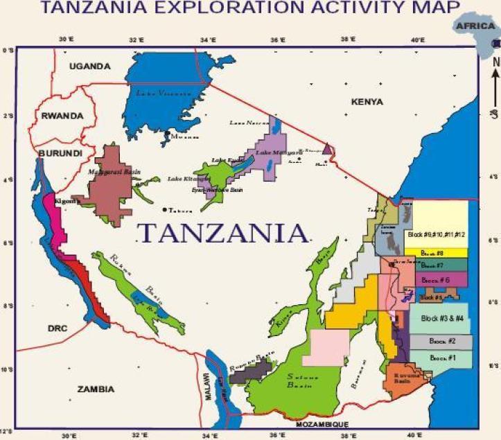 Tanzania exploration activity map-mozambiqueminingpost