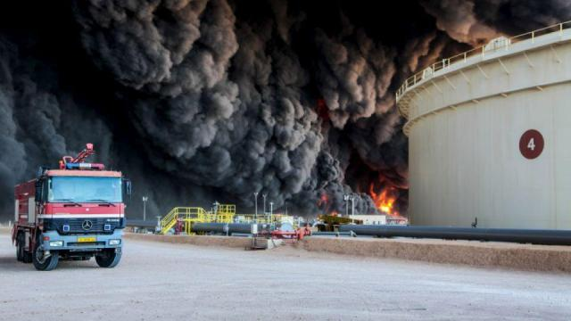 Libya - Illustration - fire - mozambiqueminingpost-27