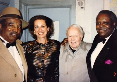 Ray Brown, Sabine Lovatelli, Herb Ellis  e Oscar Peterson - 1990 New York